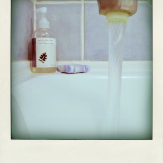 ...relaxing bath - glass of vino is out of the shot!